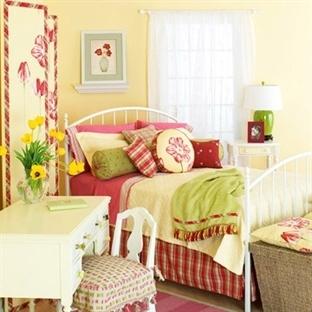 Yatak Odalarında Dekoratif Kombinler