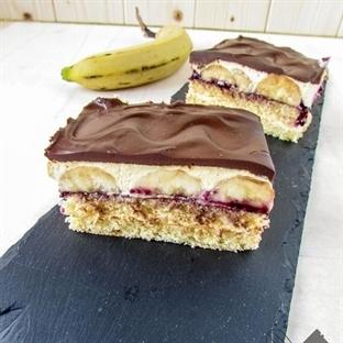 Bananen-Creme Schnitten