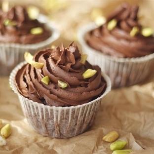 Damla Sakızlı/Çikolata Ganajlı Cupcake