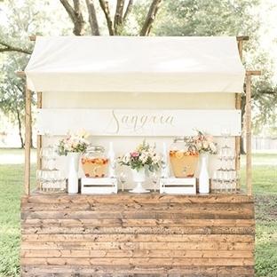 Düğünlerde ikram masası dekorasyonu