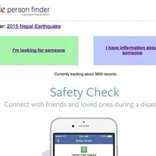 Google ve Facebook Depremzedeler için Elele Verdi