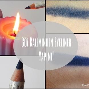 Göz Kaleminden Eyeliner Yapımı!