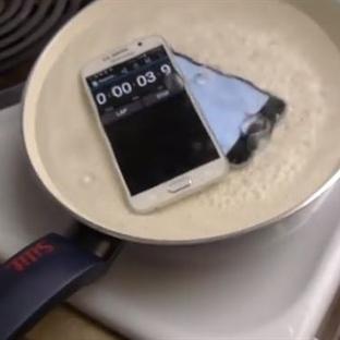 iPhone 6 ve Galaxy S6 kaynatılırsa sonuç ne olur