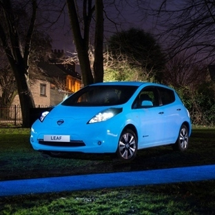 Nissan'dan Gece Parlayan Araba Leaf