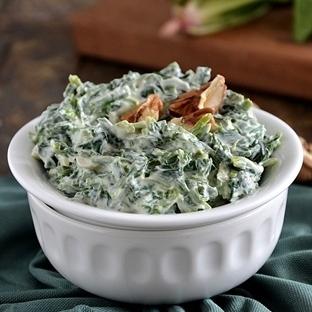 Yoğurtlu Ispanak Salatası