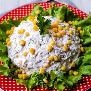 Yoğurtlu Tavuk Salatası