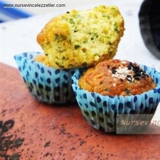 Zerdeçallı Beyaz Peynirli Tuzlu Muffin