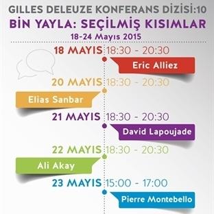 Akbank Sanat'ta Deleuze Konferansları