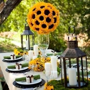 Bahar Düğünleri için Masa Süslemeleri