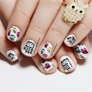 Baykuş Desenli Tırnaklar – Stamping nail art video