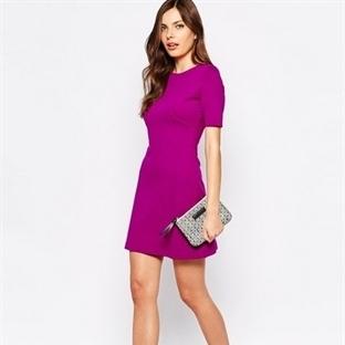 Gecelerin Farklı Rengi : Mor Elbise Modası