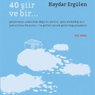 """Haydar Ergülen'in """"40 Şiir ve Bir""""ine Özel Baskı"""