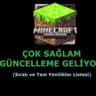 Minecraft: Pocket Edition'a Güncelleme Geliyor!