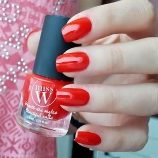 Miss W Beaute des Ongles Oje (No 04 / Kırmızı)