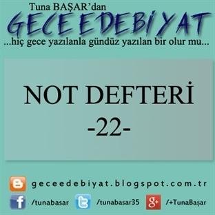Not Defteri -22-