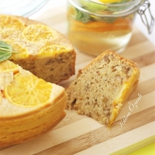 Portakallı-Cevizli-Tarçınlı Kek