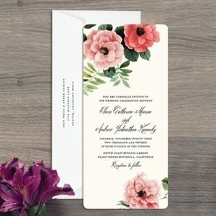 Romantik davetiye modelleri