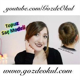 Şık ve dağılmayan kolay Topuz saç modeli (video)