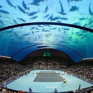 Su altı tenis kortu gelebilir