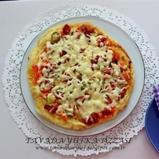 tavada yufkadan pratik pizza yapalım