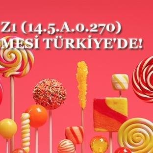 XPERIA Z1 (14.5.A.0.270) GÜNCELLEMESİ TÜRKİYE'DE!