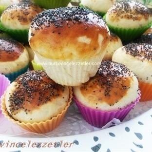 Zeytinli Mini Muffin Poğaça Tarifi