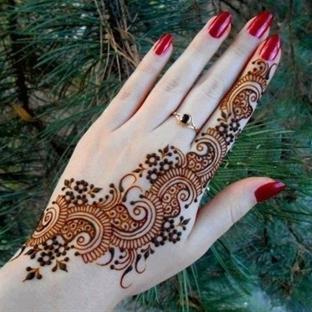 2015 Modası Hint Kınası Motifleri
