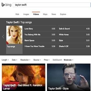 Bing Video Müzik Aramak İçin Geliştirildi