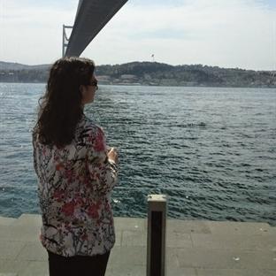 Çiçekli  blazer / Boğaz'da güzel bir gün