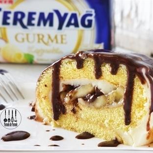 Çikolata Soslu, Muzlu Rulo Pasta