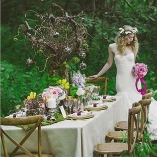 Doğa temalı düğün masaları