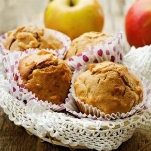 Elmalı Muffin Tarifi (Şeker ilavesiz, ballı)