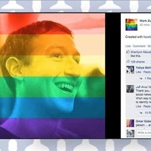 Facebook Gökkuşağı Filtresi Bir Tıkla İşlem Tamam