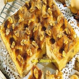 Kayısı ve cevizli Portakallı kek