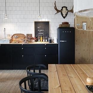Siyah Mutfak Tasarımları