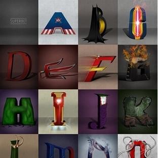 Süper kahraman alfabesi