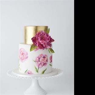 Çiçek temalı düğün pastaları