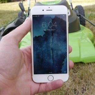Çim Biçme Makinesiyle iPhone 6'nın Üzerinden Geçti