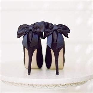 Fiyonk Detaylı Gelin Ayakkabıları