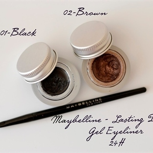 Maybelline Gel Eyelinerlar: 01 Black, 02 Brown