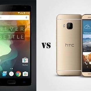 One Plus 2 ve HTC One M9 Karşılaştırması
