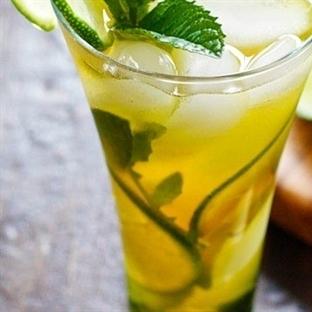 Sağlıklı Tarifler: Buzlu Limonlu Yeşilçay