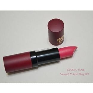 Ürün İncelemesi:Golden Rose Velvet Matte Ruj No:09