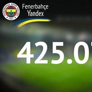 Fenerbahçe, Yandex'te 425 bin oldu yıldız geliyor