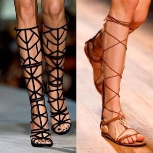 Gladyatör Sandaletler Nasıl Giyilir?