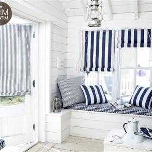 Marin Rüzgarında Mavi Beyaz Ev Dekorasyonu