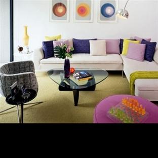 Modern retro tarzı oturma odaları