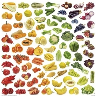 Renk Renk Meyveler Sebzeler