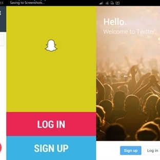 Snapchat'i project astoria ile windows 10 a çevird