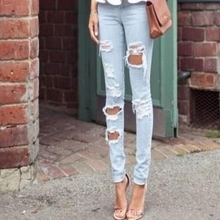 Yırtık jean pantolon yapın